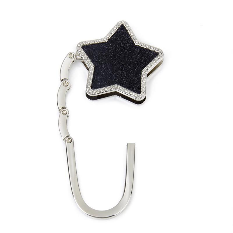 Tabelle-Sterne-faltbare-Geldboerse-Hanger-Handbag-Haken-Taschenhalter-Schw-E6V9 Indexbild 3