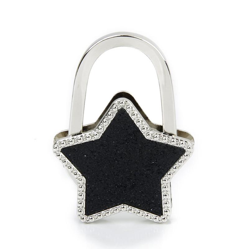 Tabelle-Sterne-faltbare-Geldboerse-Hanger-Handbag-Haken-Taschenhalter-Schw-E6V9
