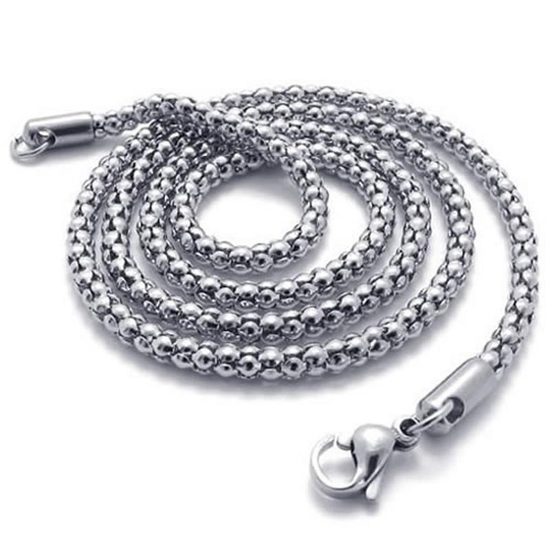 Indexbild 7 - Schmuck Herren Damen Kette,Edelstahl Panzerkette Halskette,Silber X5H4