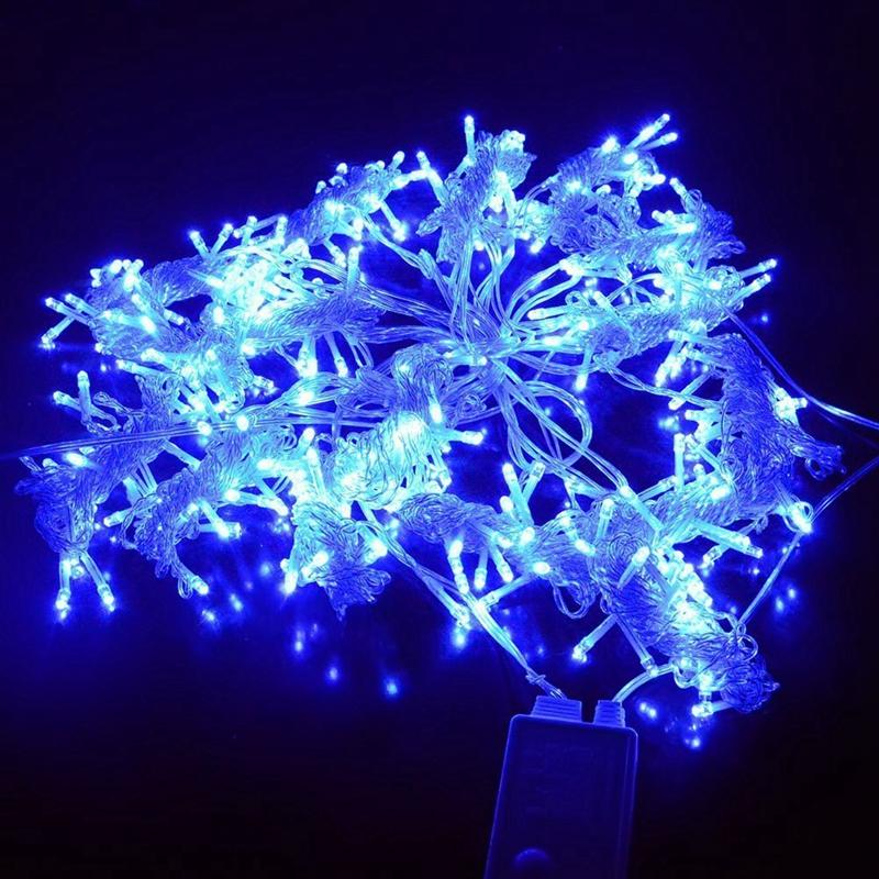 3m-x-3m-300-LED-de-cadena-ligera-cortina-de-secuencia-del-carambano-lluvia-h-2E9 miniatura 3