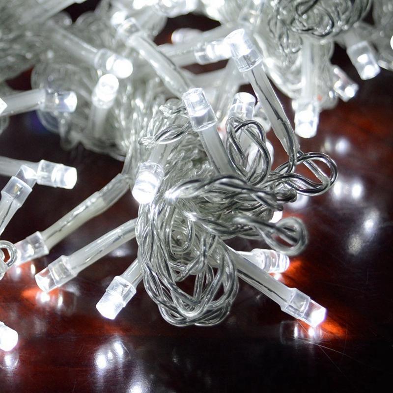 3m-x-3m-300-LED-de-cadena-ligera-cortina-de-secuencia-del-carambano-lluvia-h-2E9 miniatura 12