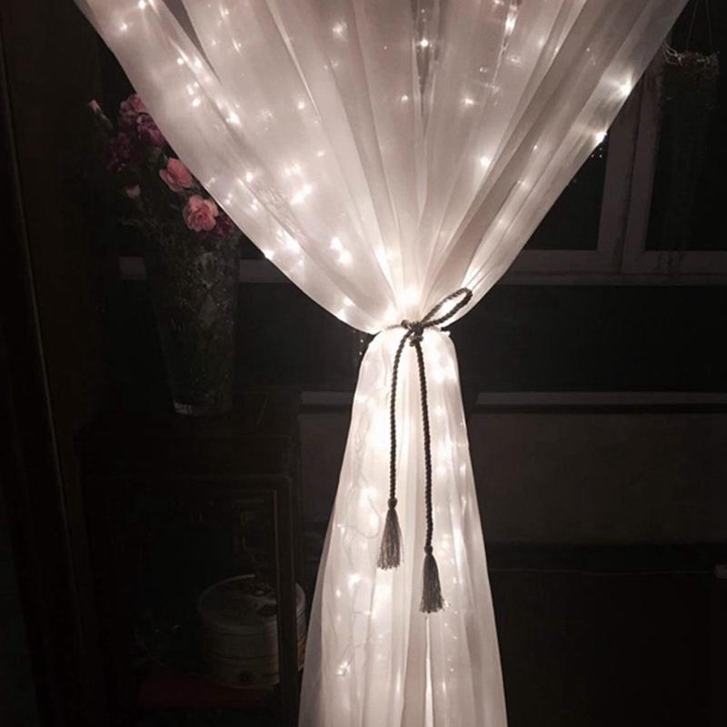 3m-x-3m-300-LED-de-cadena-ligera-cortina-de-secuencia-del-carambano-lluvia-h-2E9 miniatura 14