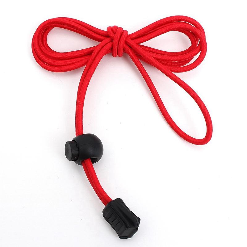 4X(Une paire de lacets elastiques et lacet en plastique 120 cm - rouge et noi UH
