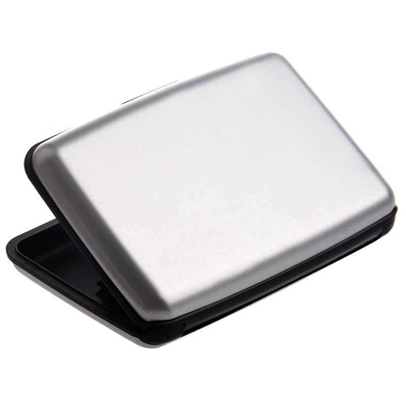 Aluminium Case Credit Card Holder Metal Wallet One Size in Silver L6D4 HG