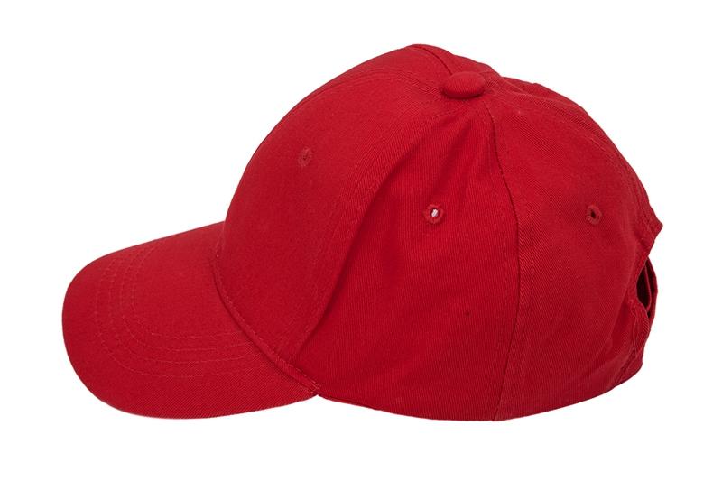 2543fb1a7e9d91 Kids Plain Baseball Cap Girls Boys Junior Childrens Hat Summer-Red ...