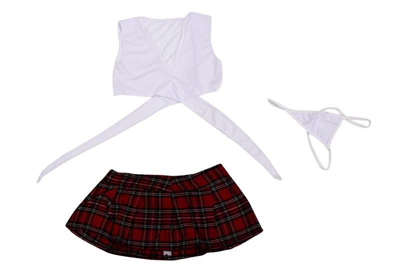 Lenceria-sexy-de-escuela-blanco-con-rojo-Uniforme-de-juego-Kimono-estudiante-jap