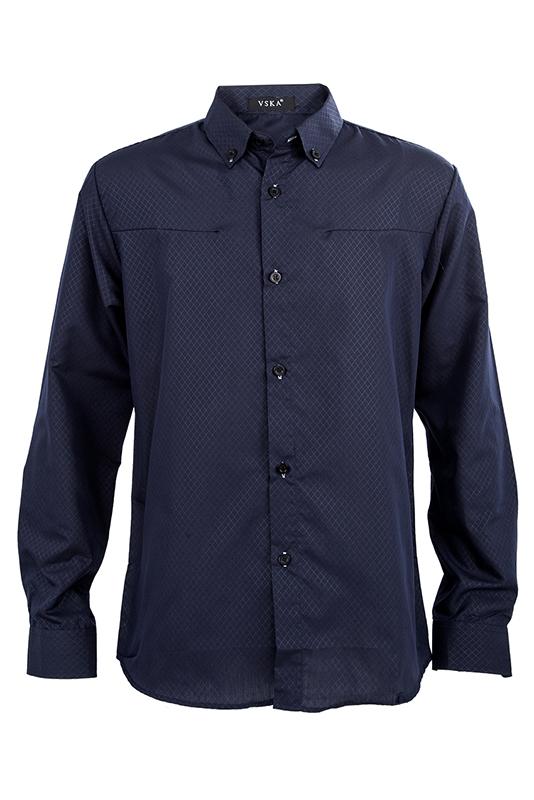 Nuovo-Uomo-camicia-Casual-dimagrita-misura-Camicie-da-abbigliamento-Marin-D9X6