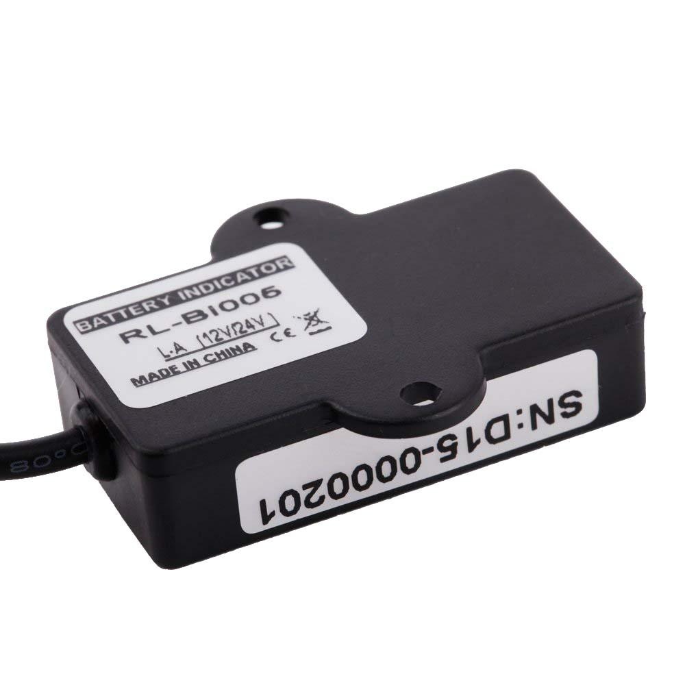 Battery Status Monitor : Led digital battery status charge indicator monitor