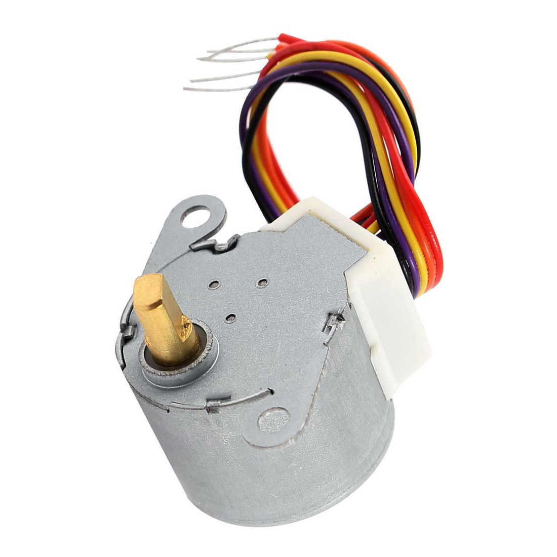 DC 12V CNC Reducing Stepping Stepper Motor 0.6A 10oz.in 24BYJ48 Silver C8H9