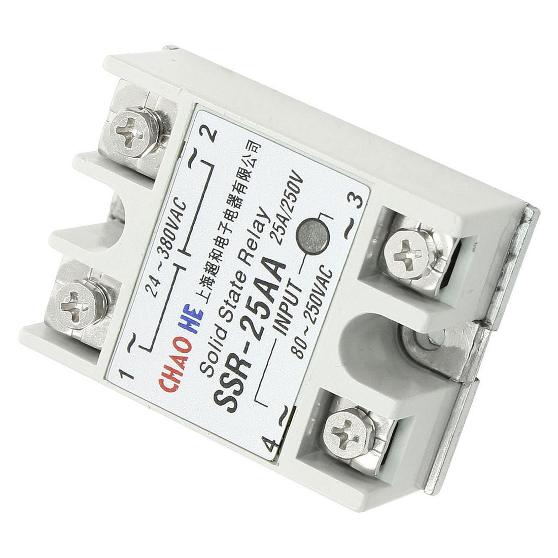 Chaohe Temperature Contoller 4 Terminals Solid State Relay Ssr 25 Aa Finder Product Name Relaytype Rated Current 25ainput Ac 80 250v Output 24 380vrelay Size 63 X 45 23cm 18
