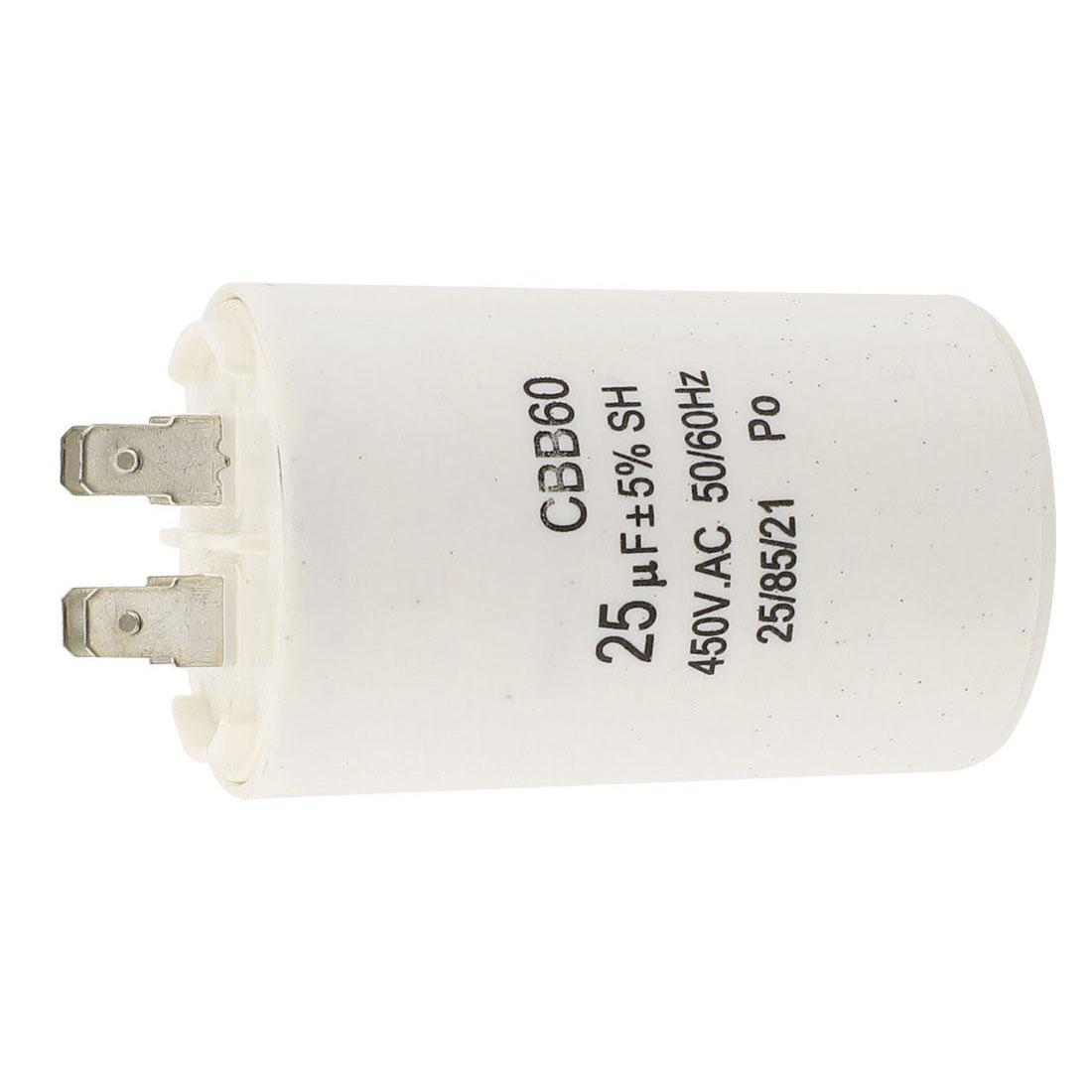 Cbb60 25uf 450vac Ac Motor Run Capacitor For Washing