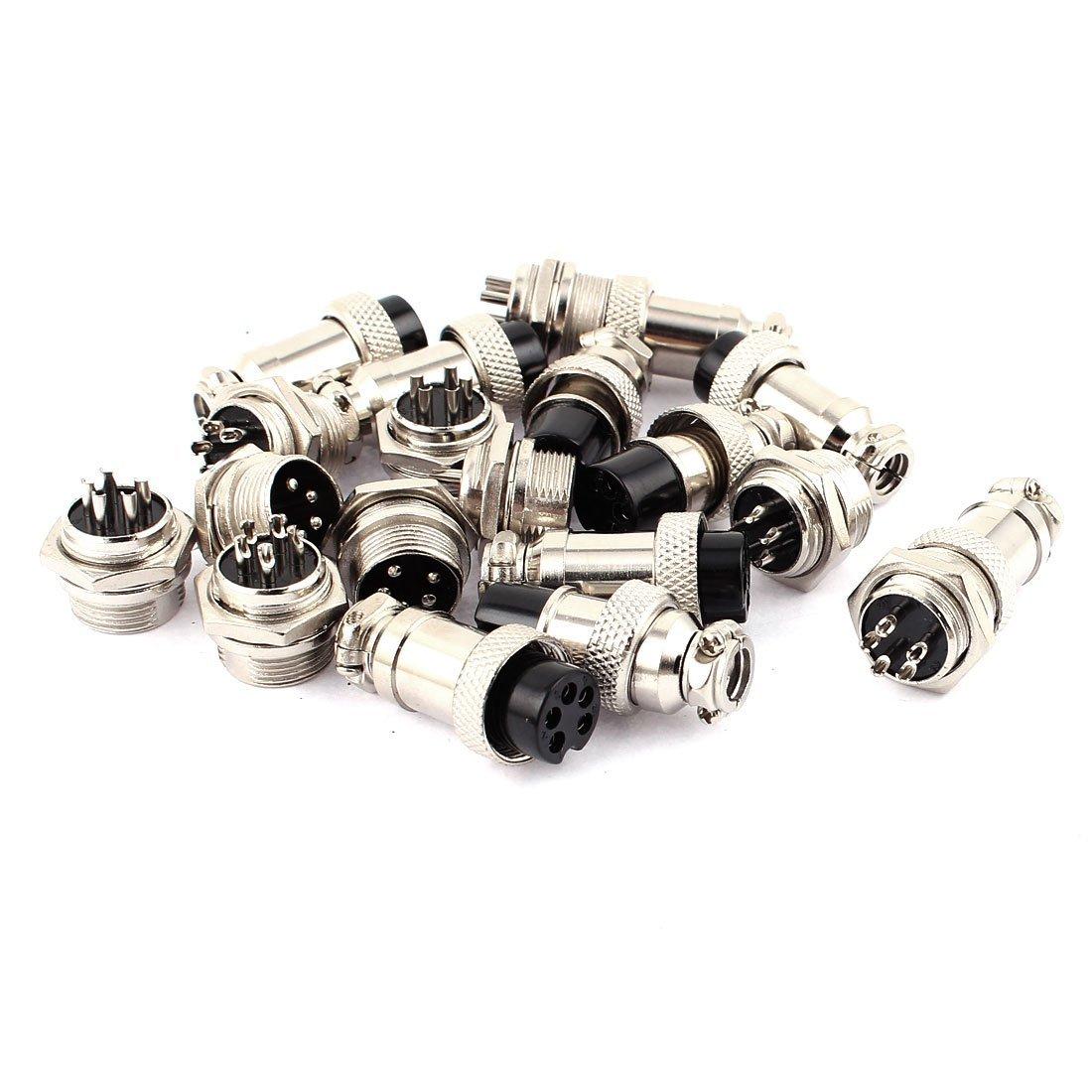 Metall 16mm Gewinde 5 Pins Panel-Luftfahrt-Stecker Draht-Verbindungs ...