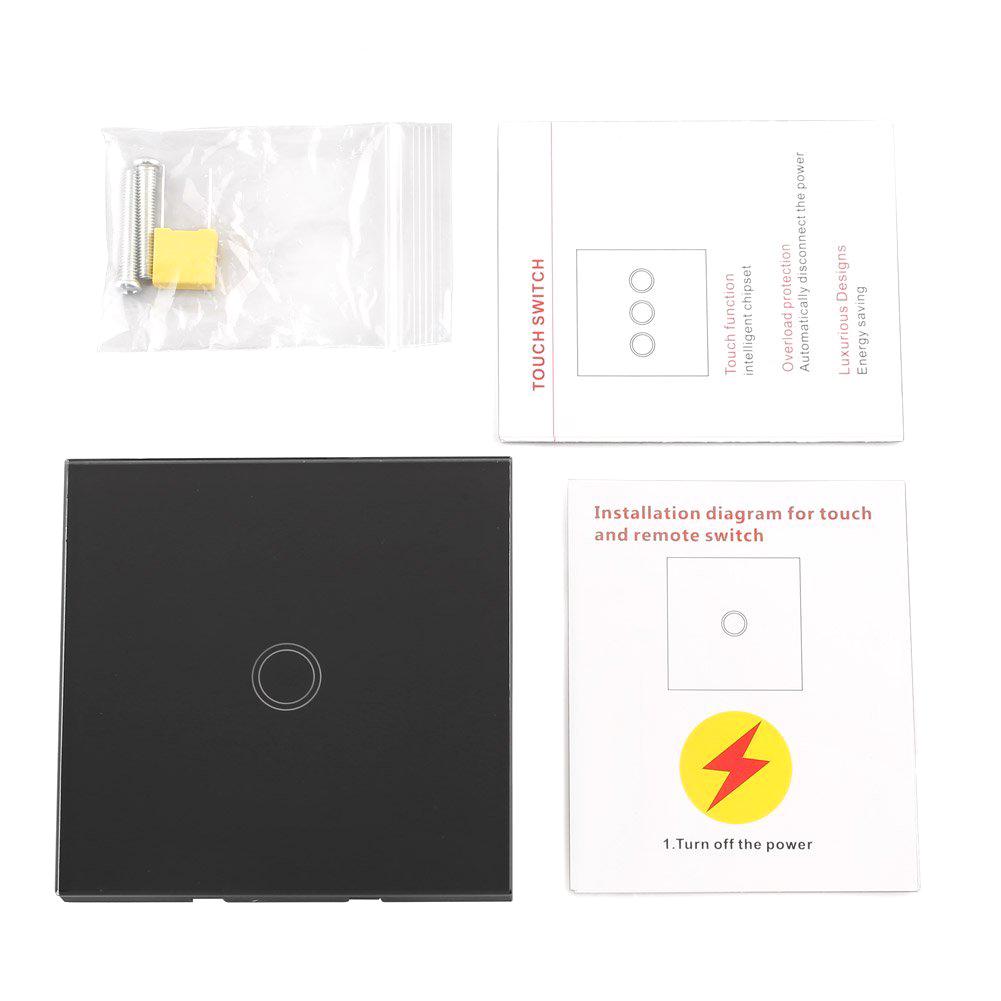 lichtschalter mit fernbedienung glas touchscreen wandschalter 1 single weg a1 ebay. Black Bedroom Furniture Sets. Home Design Ideas