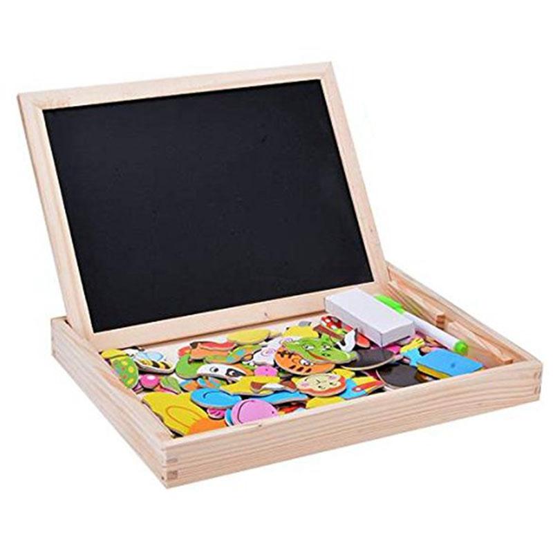 Baby-Lernspielzeug-Staffelei-Magnetic-Doodle-Kinder-aus-Holz-Zeichnung-Tafe-E9H3 Indexbild 3