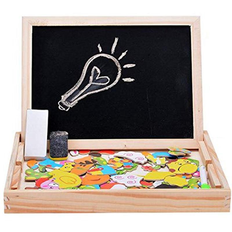 Baby-Lernspielzeug-Staffelei-Magnetic-Doodle-Kinder-aus-Holz-Zeichnung-Tafe-E9H3 Indexbild 4