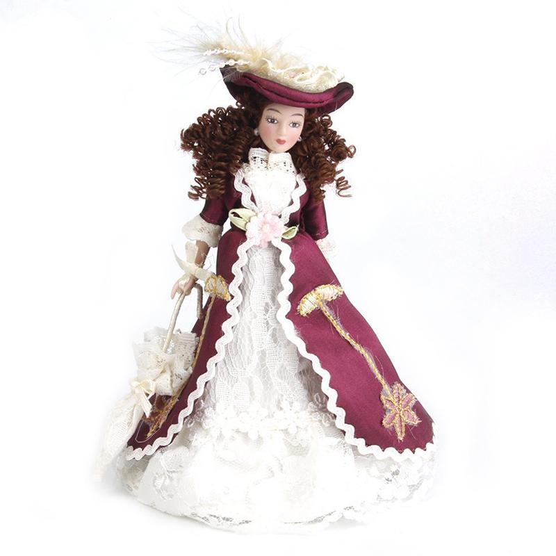 precios razonables 20x (1 (1 (1 12 casa de muñecas en miniatura porcelana muñecas dama clásica con sombrero 1pcs i6j2)  Tienda 2018