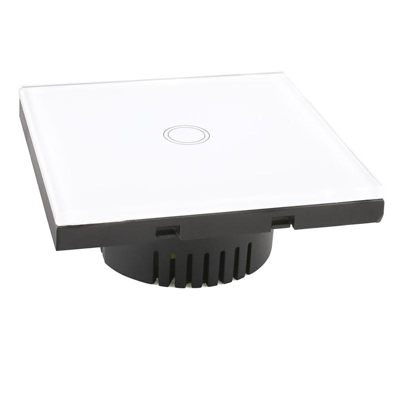 lichtschalter mit fernbedienung glas touchscreen wandschalter 1 weg weiss s x6u4 ebay. Black Bedroom Furniture Sets. Home Design Ideas
