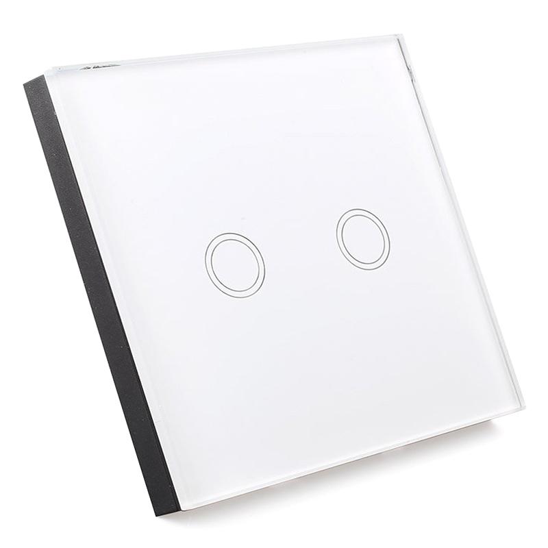 LICHTSCHALTER MIT FERNBEDIENUNG Glas Touchscreen Wandschalter 2 Weg ...