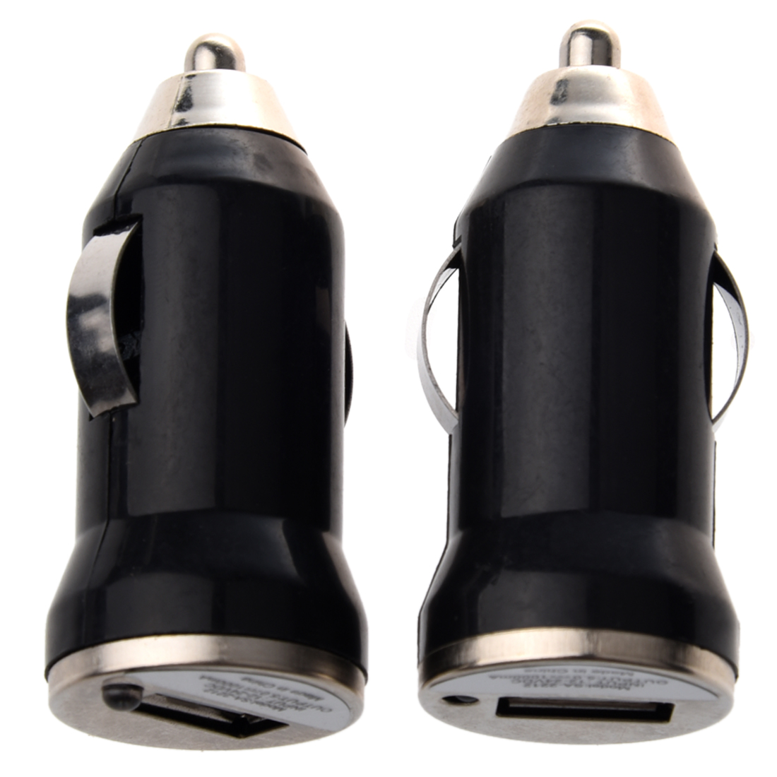 2x usb Black Car Charger Adapter for Apple phone W8G8