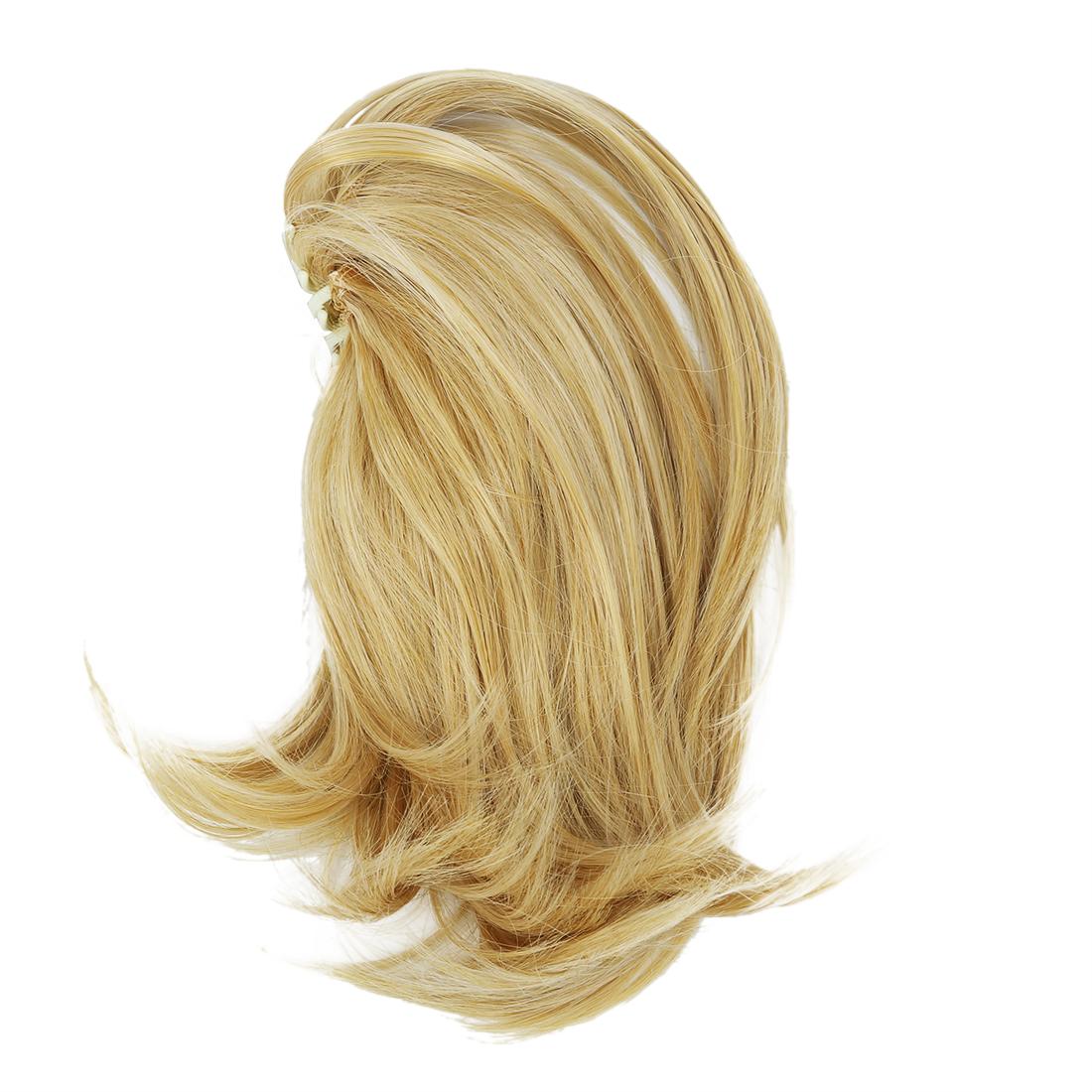 court queue de cheval extensions cheveux clips pieces de cheveux or clairi4n9 ebay. Black Bedroom Furniture Sets. Home Design Ideas