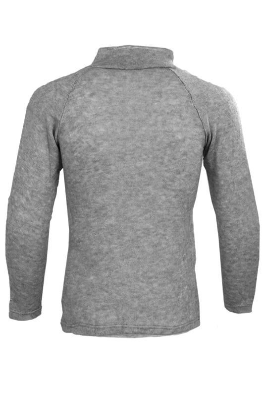 Nouveau-Mode-Hommes-Col-roule-Mince-Fit-Manches-longues-Pull-Cardigan-Chandai-Q2 miniature 3