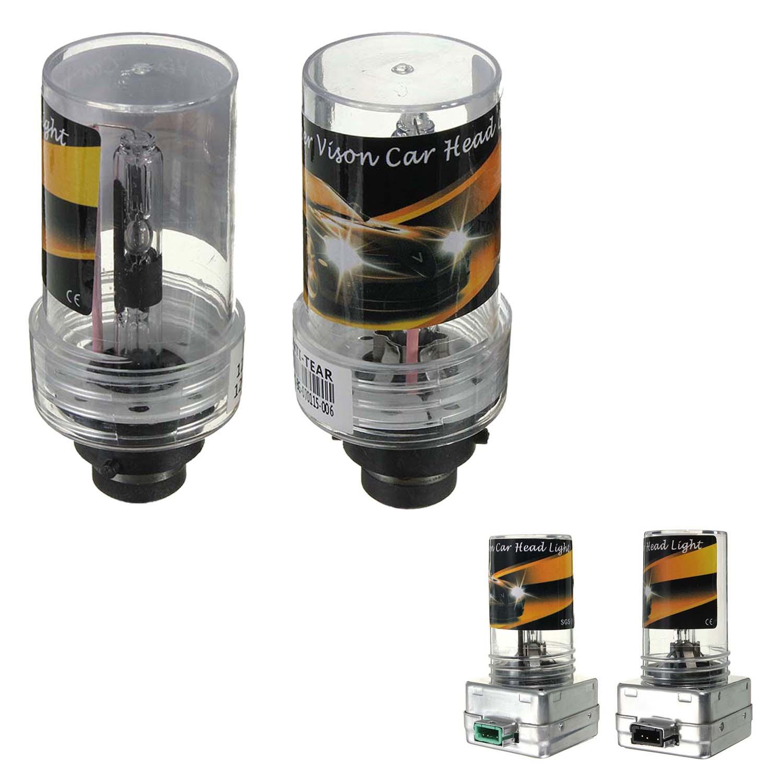 SODIAL Bombillas de xenon HID R 2 x Bombillas de xenon HID de sustitucion de lampara H7 55W 10000K