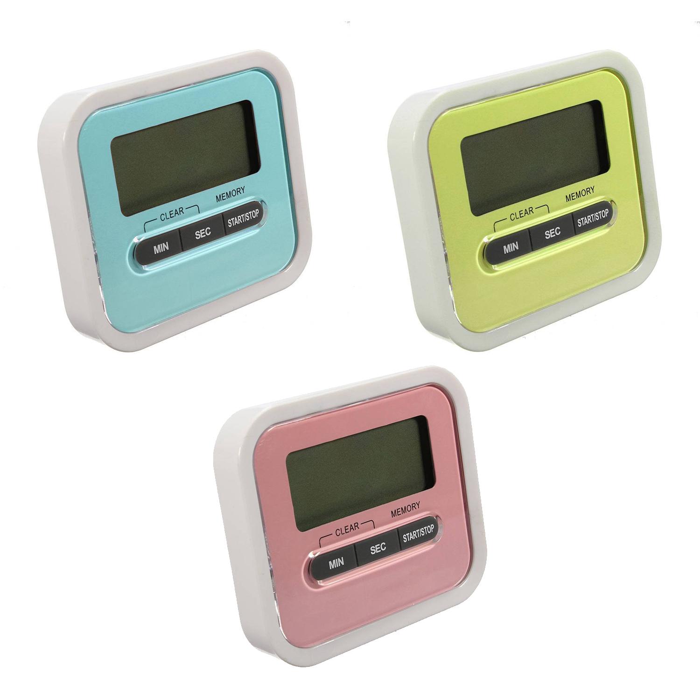 digital grosse lcd display kuechentimer kuechenuhr elektronischer timer co a8r7 ebay. Black Bedroom Furniture Sets. Home Design Ideas