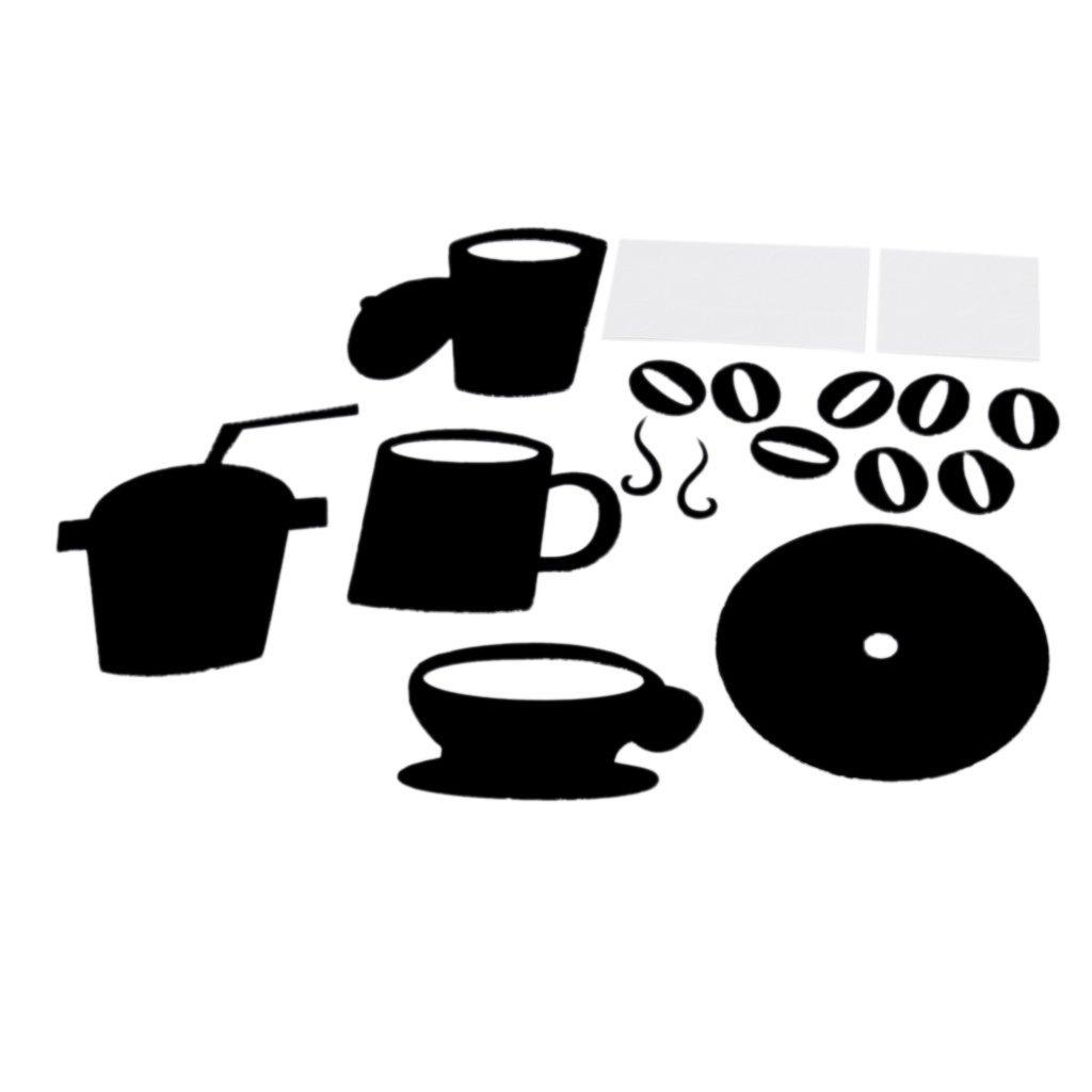 moderne wanduhren diy grosse tasse kaffee aufkleber abziehbilder still alar y9p2 ebay. Black Bedroom Furniture Sets. Home Design Ideas