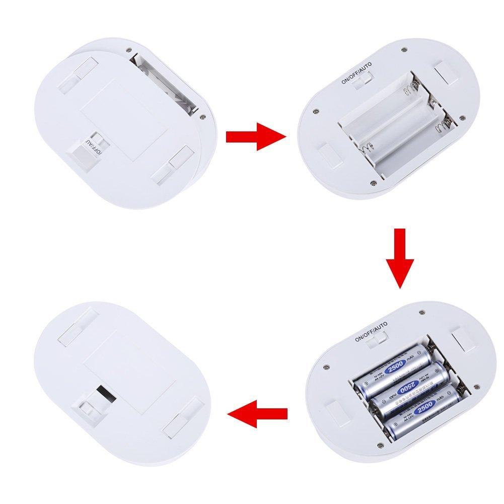 Led luz de noche con sensor de movimiento de extension 120 - Sensor de movimiento luz ...