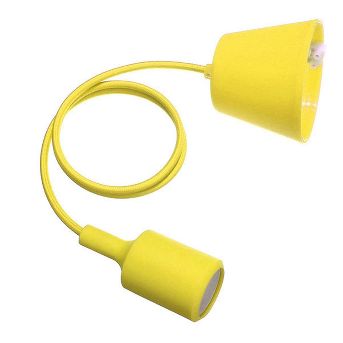 e27 silicone rubber fassung gluehbirne pendelleuchte lampenfassung diy gelb w2s4 ebay. Black Bedroom Furniture Sets. Home Design Ideas