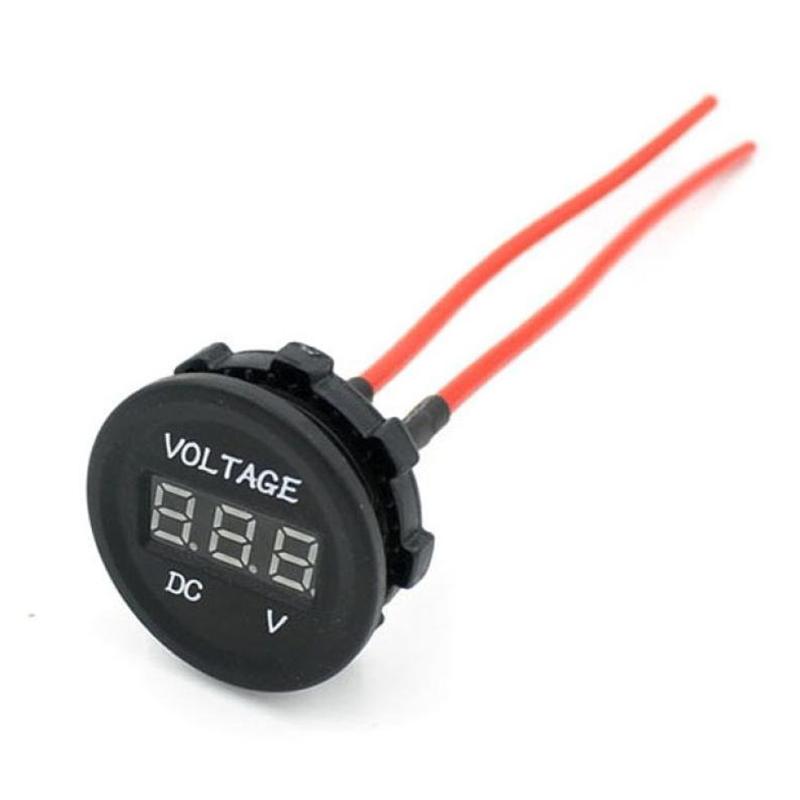 digitalanzeige voltmeter dc 12v 24v fuer auto motorrad wasserdichte led gr f5w5 ebay. Black Bedroom Furniture Sets. Home Design Ideas