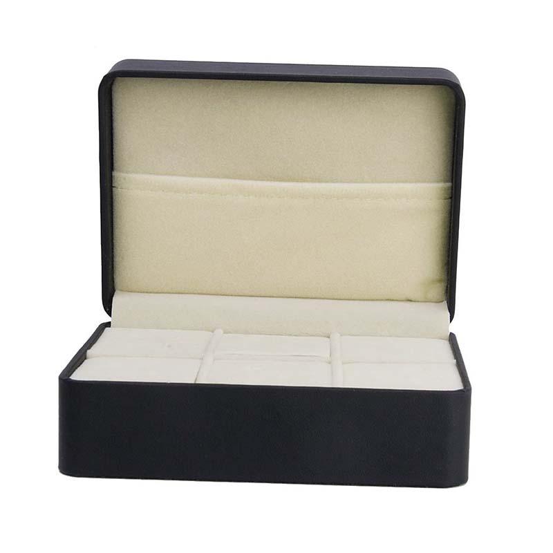 Une piece Boite de rangement pour les bijoux Boite de boutons de manchette  O9A9