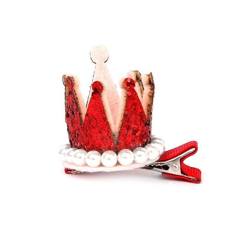 5X-3-pcs-Hair-Pins-Hair-Curl-Christmas-Child-Baby-Girl-Crown-Alligator-K9V3