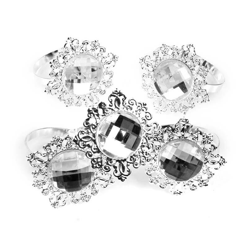 12 pieces napkin rings napkin holder wedding banquet dinner decor silver f5d1 jv 190268336383