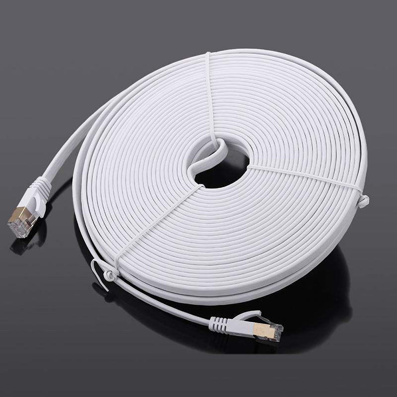 1X-15-m-Cable-du-reseau-a-haute-vitesse-categorie-Cat7-SSTP-RJ45-Cable-Q5A7 miniature 2