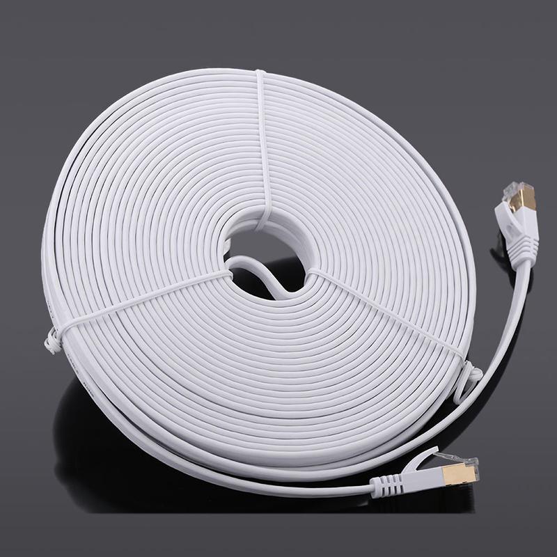 1X-15-m-Cable-du-reseau-a-haute-vitesse-categorie-Cat7-SSTP-RJ45-Cable-Q5A7 miniature 4