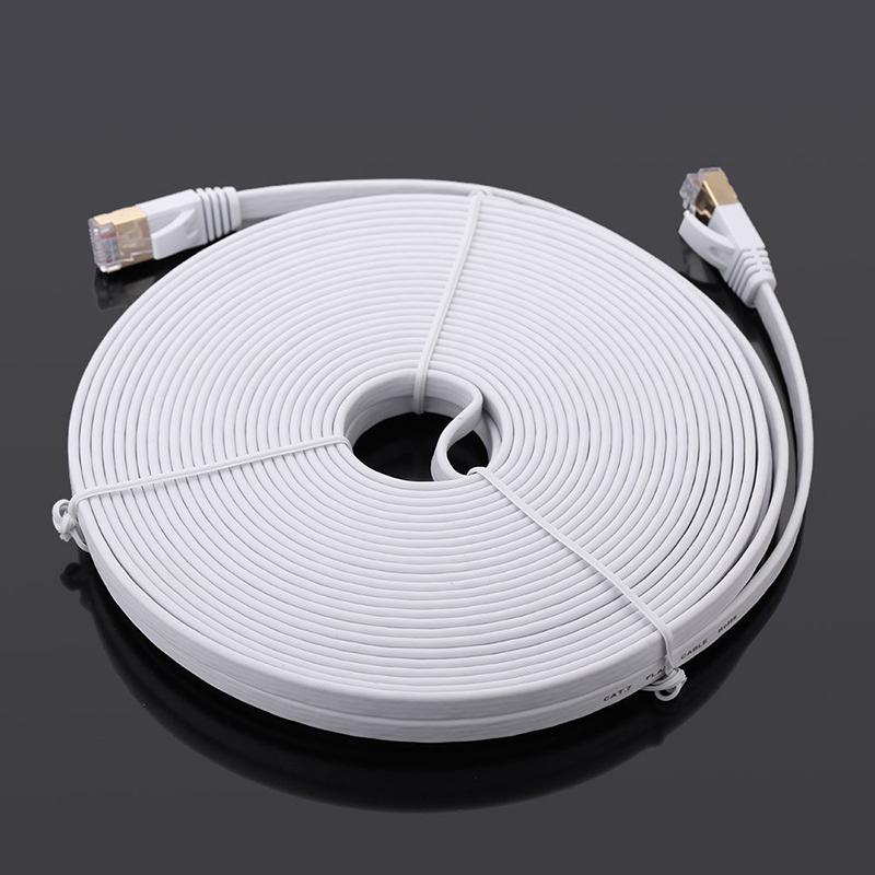 1X-15-m-Cable-du-reseau-a-haute-vitesse-categorie-Cat7-SSTP-RJ45-Cable-Q5A7 miniature 5