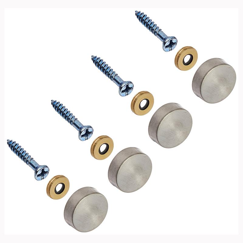 4pzs 16mm Clavos de espejo decorativos de tapas de acero inoxidable Z5O6