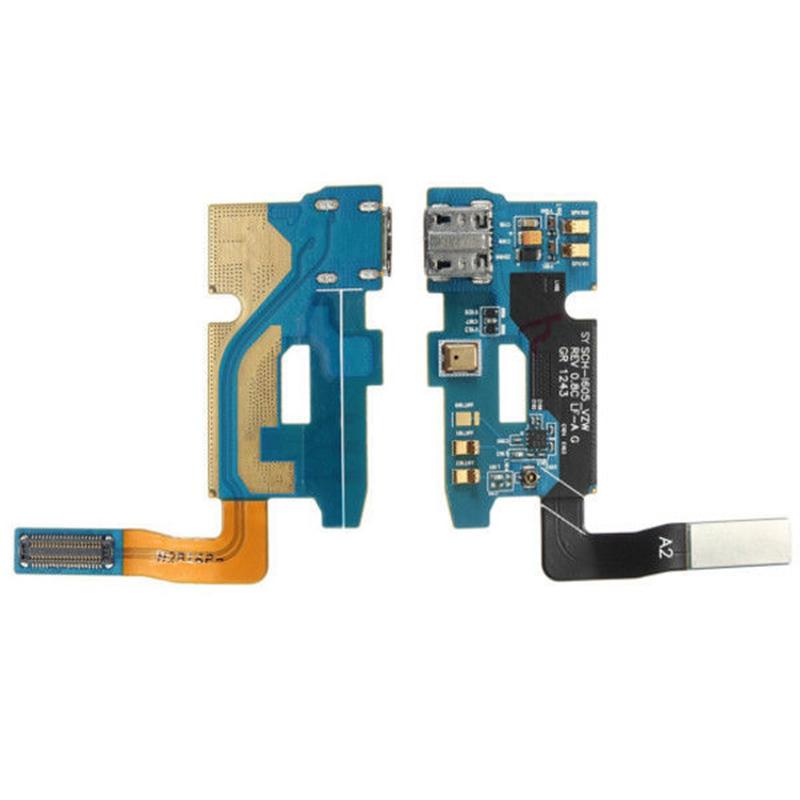 2X(Flexion Cable + USB puerto de carga y minifono para Samsung Galaxy Note T2R1)