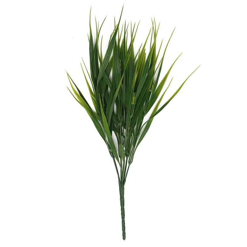Flor planta hierba verde de plastico artificial Decoracion del jardin ofici N8D5