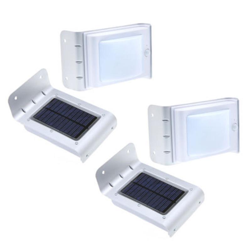 2X (4 un. sensor de sonido sensible Solar 16 Leds Luz al Aire Libre Seguridad del hogar si H2M6