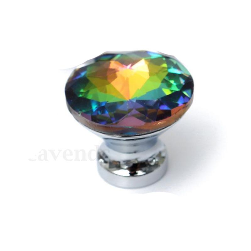 10x Diamond Crystal Glass Door Knobs Cupboard Wardrobe Cabinet Door