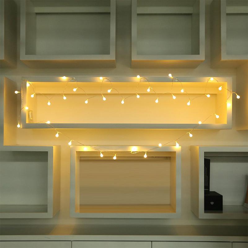 4M-Light-string-40-LEDs-warm-white-light-one-battery-for-the-decoration-L9L2