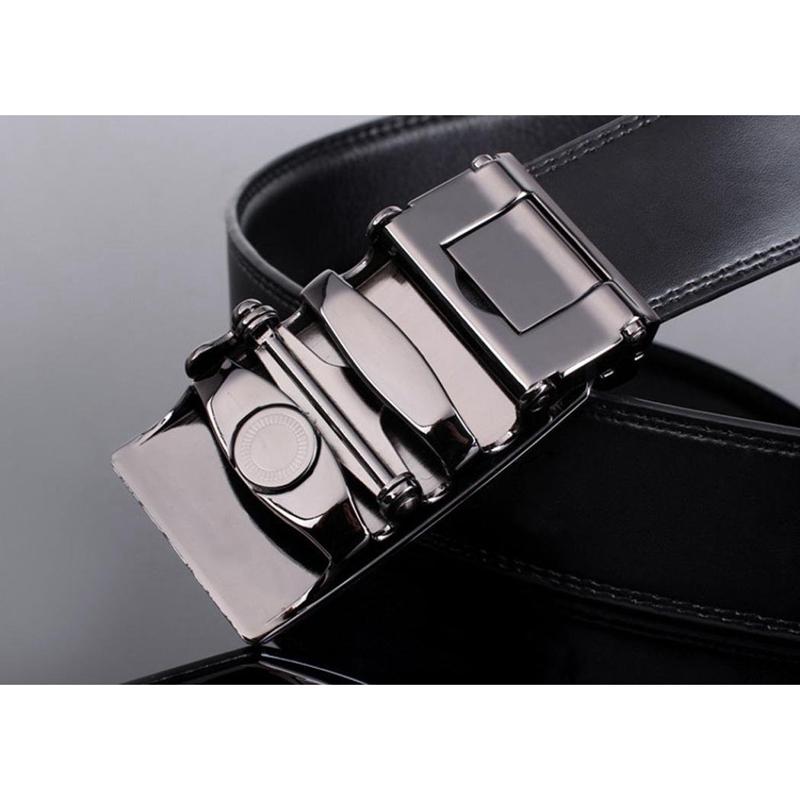 Para-hombre-de-cuero-Hebilla-automatica-cinturones-de-negocios-de-lujo-2-PB-P7 miniatura 3
