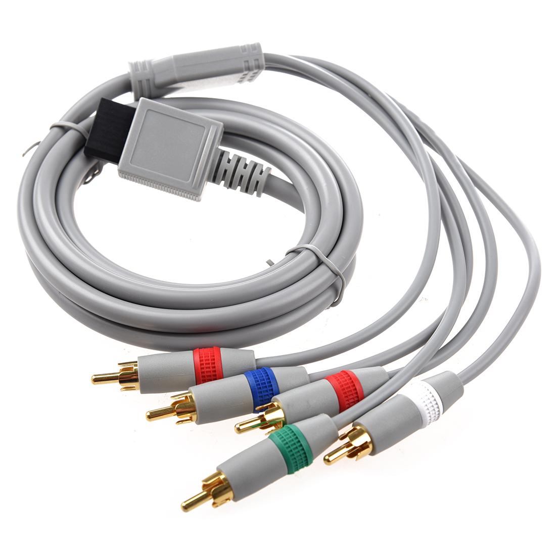 RCA YPbPr Komponenten-Kabel AV Audio Video 1.7m fuer Nintendo Wii ...