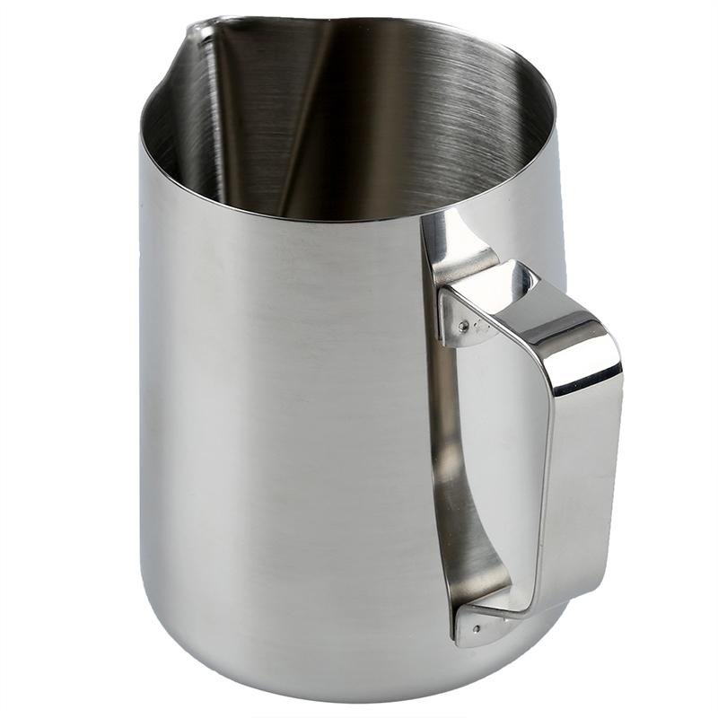 Cuisine-Artisanat-Cafe-Guirlande-Coupe-Latte-Cruche-Acier-inoxydable-O7S3 miniature 2
