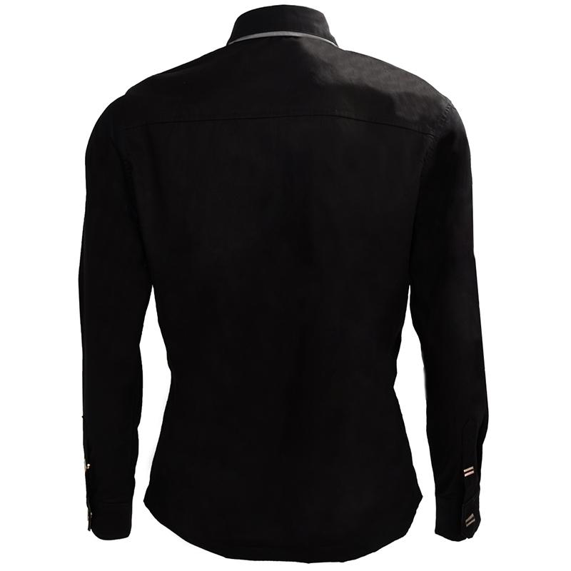 Nueva-Camisa-de-algodon-de-otono-de-primavera-para-Los-hombres-Camisa-casua-L4O9 miniatura 3