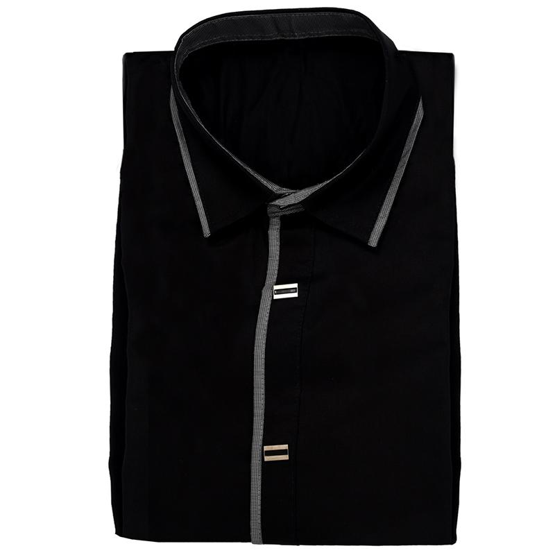 Nueva-Camisa-de-algodon-de-otono-de-primavera-para-Los-hombres-Camisa-casua-L4O9 miniatura 7