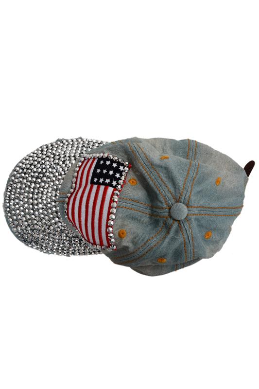 Sombrero de sol gorra de beisbol mezclilla diamante de imitacion ...