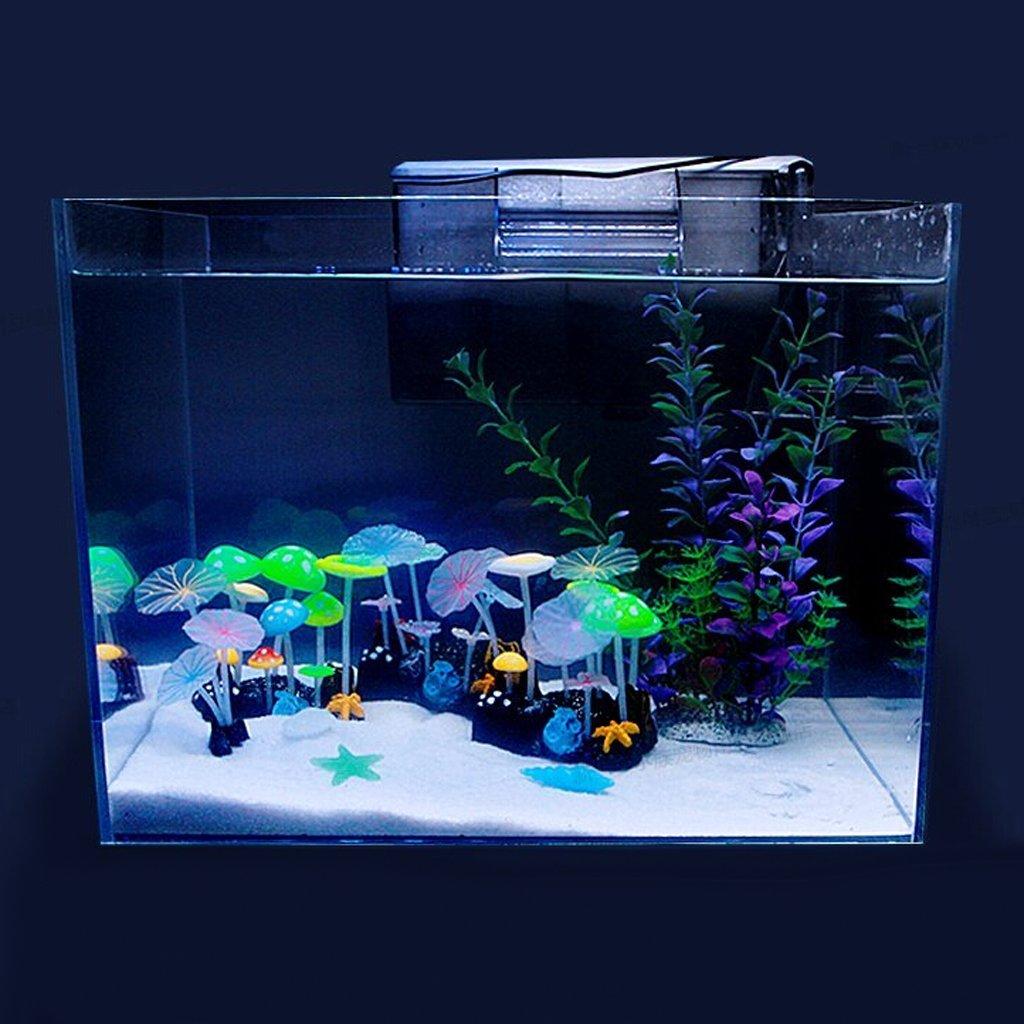 Artificial aquatic plant lotus leaves mushrooms aquarium for Artificial fish tank